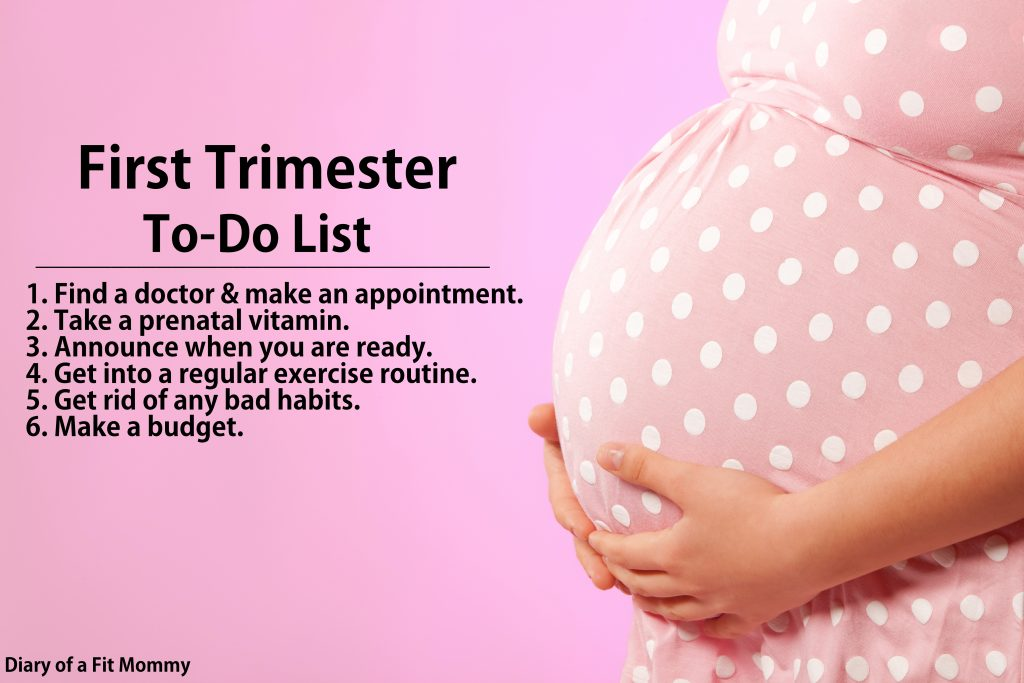 Diary of a Fit MommyFirst Trimester To-Do List