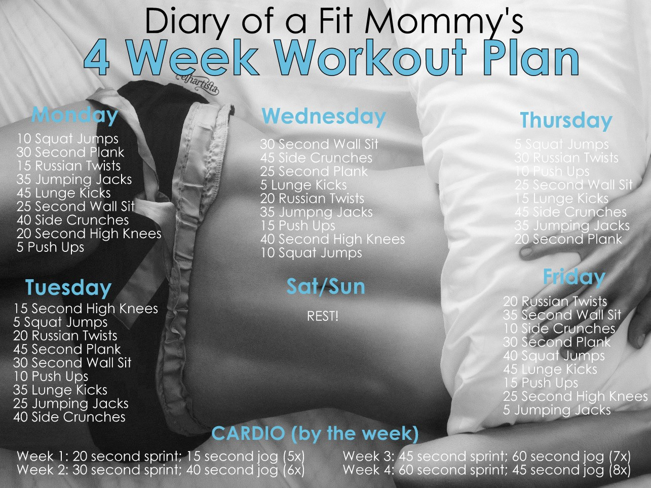 Diary Of A Fit Mommy4 Week No Gym Home Workout Plan