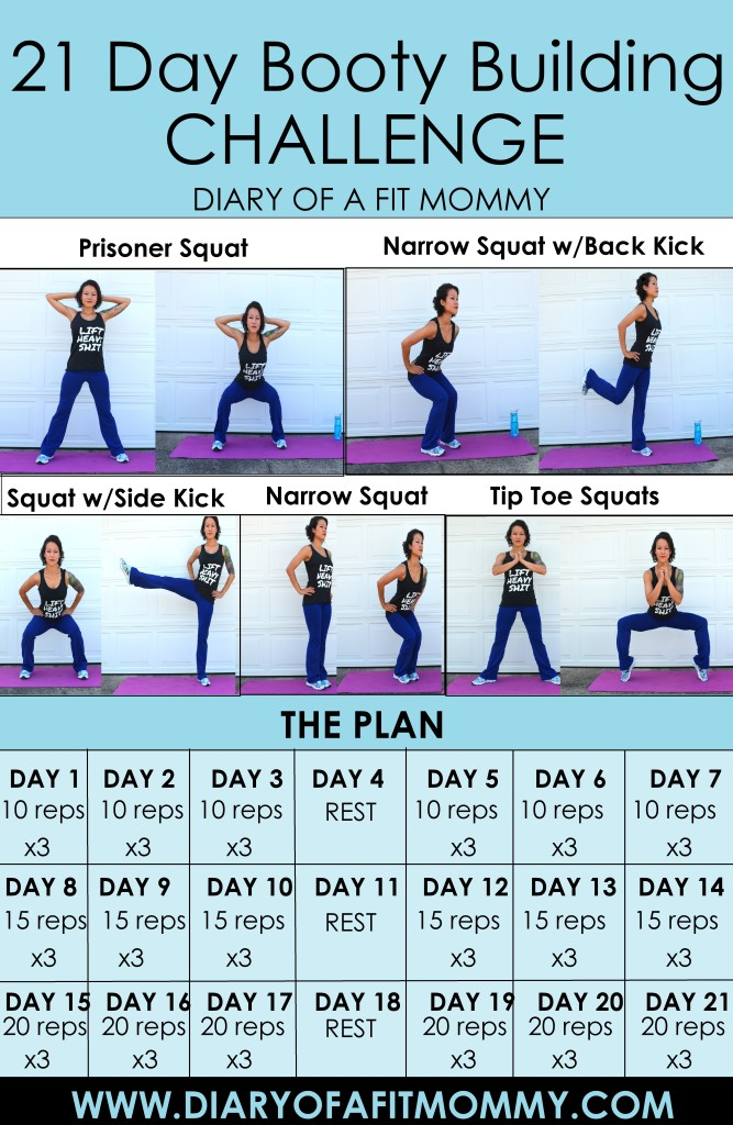 21-Day Booty Workout Challenge