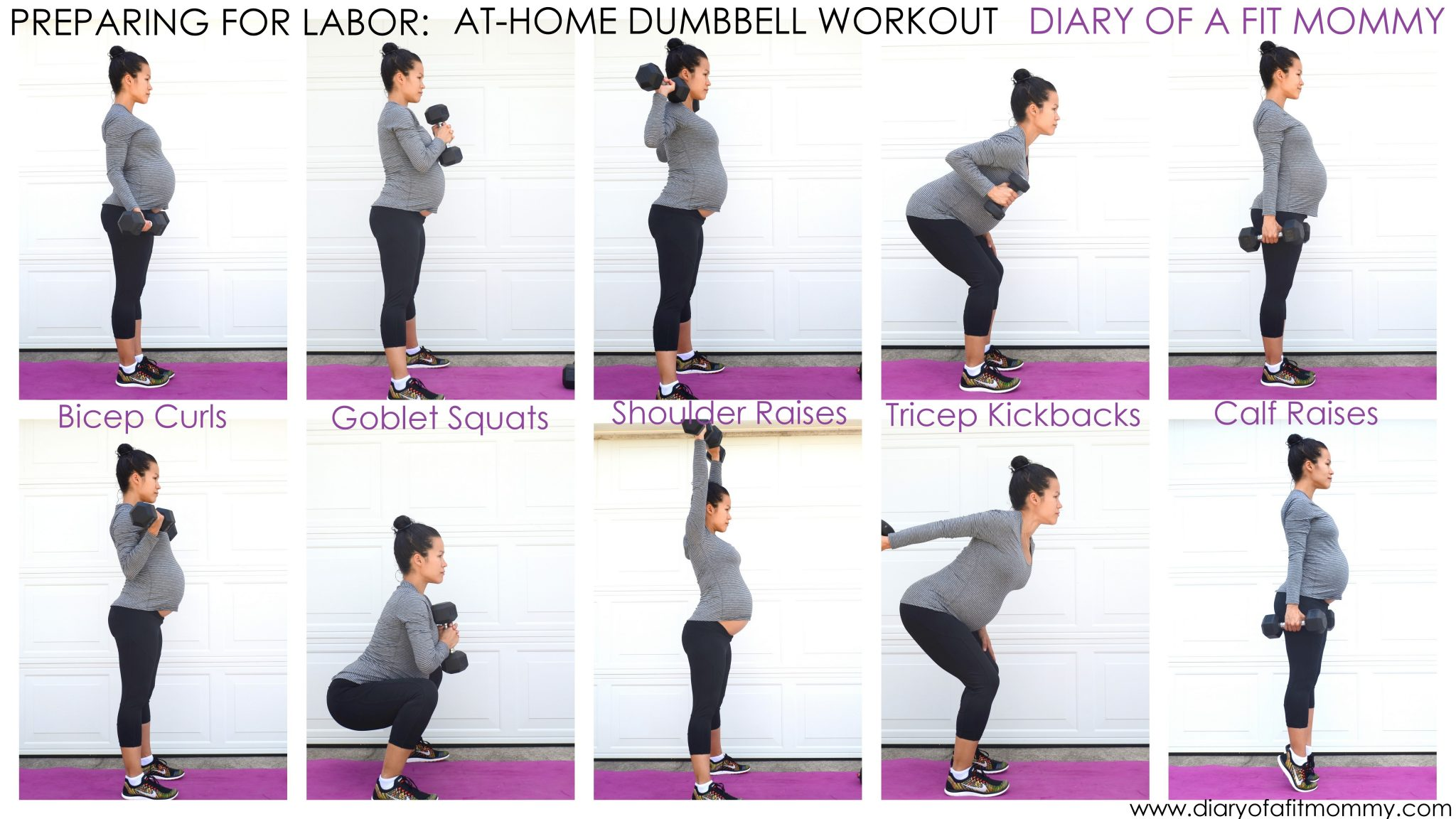 Preparing For Labor At Home Dumbbell Workout